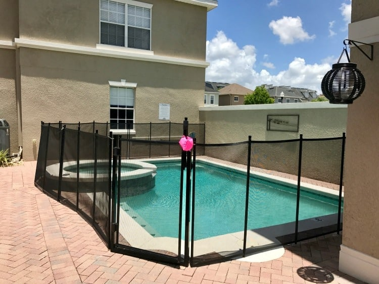 We loved the fence around the pool at the vacation home we stayed at in Orlando, Florida