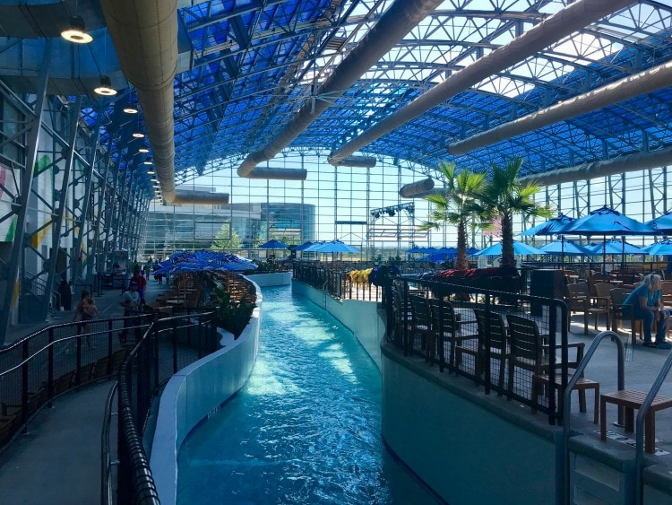The longest indoor lazy river at epic waters in Texas.