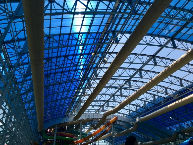 The retractable roof at Epic Waters is something to see!