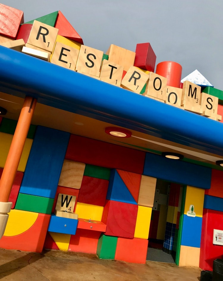 Even the restrooms are fun at Toy Story Land
