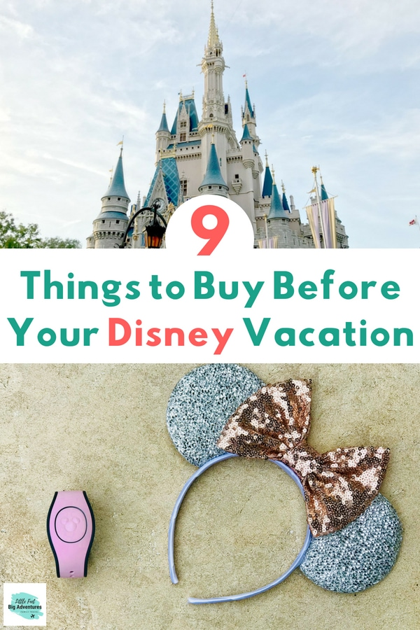 9 things to buy before your Disney vacation. Packing for Disney World. Disney Packing List. #DisneyWorld #disneyvacation #Disneypackinglist #waltdisneyworld #disneytips
