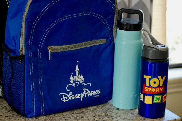 things to buy before you visit Disney World which include a reusable water bottle