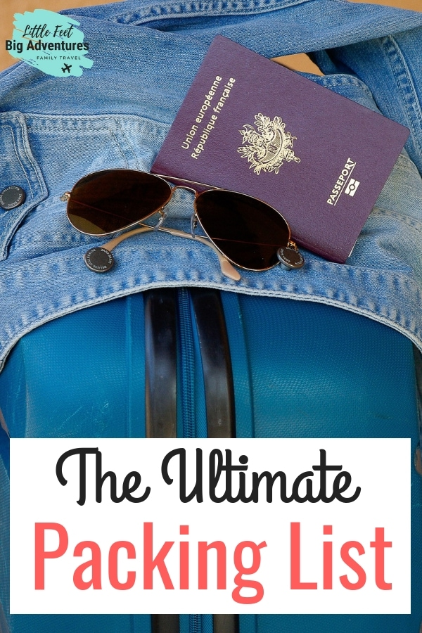The ultimate packing list for family travel. Packing for a family, packing list. How to pack for a family. #packinglist #printable #packing #familytravel