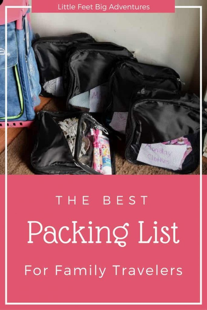 The best packing list for family travel. Use this free printable to keep your family organized and making packing as stress free as possible.