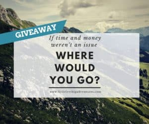 travel goals & giveaway