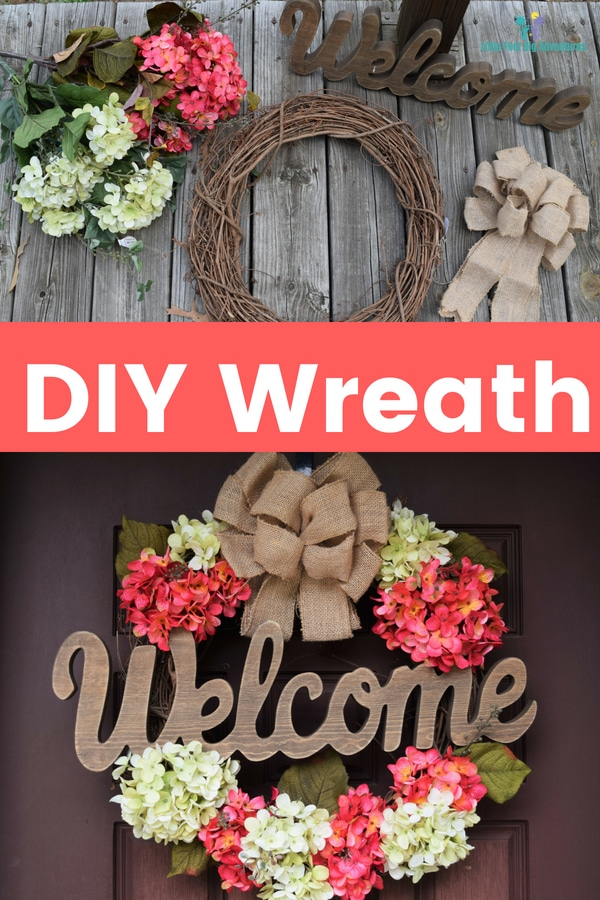 How to make your own DIY wreath. Simple and easy wreath for your home. #homedecor #DIY #crafts #wreath #DIYcraft