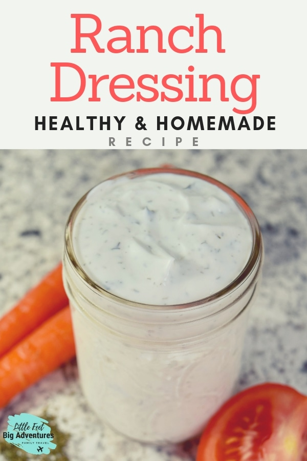 The best healthy homemade ranch dressing recipe. You won't use a mix again after trying this ranch which is made with yogurt. Better than restaurant ranch. #ranch #recipe #healthyrecipes #homemade #ranchdressing