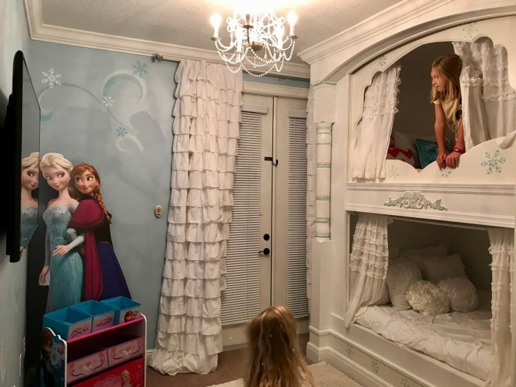 My three daughters loved the Frozen themed room. Consider this home when asking where to stay in Orlando