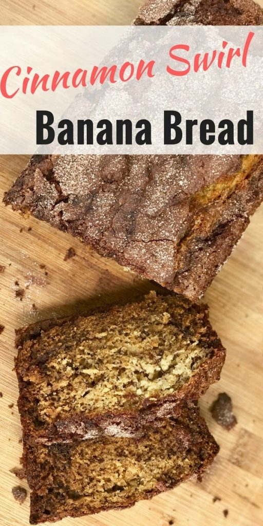 This easy and delicious cinnamon swirl banana bread is sure to impress your guests.