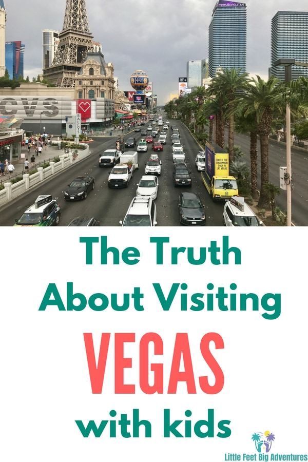 Should you take your kids to Vegas? We have the answer. #familytravel #vegas #travel #traveldestinations #kids #family
