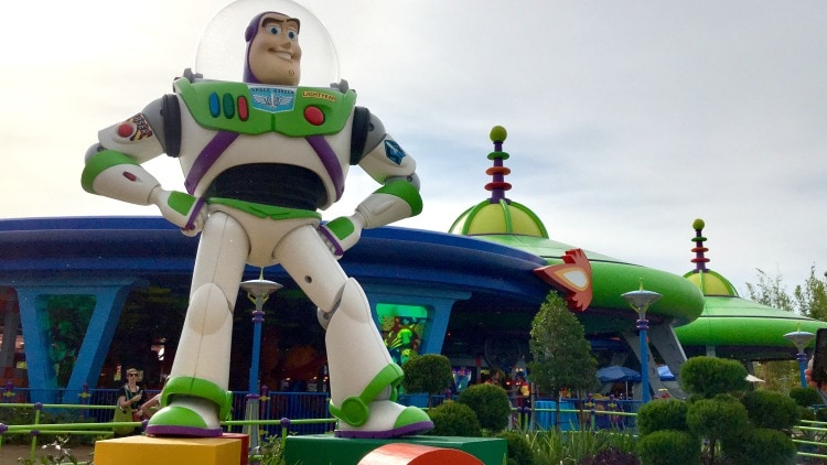 The classic Buzz Lightyear at Toy Story Land
