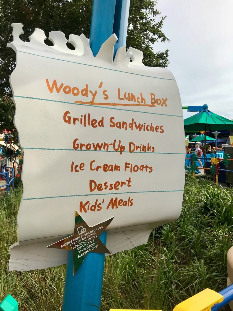 Find delicious food in Andy's backyard at Toy Story Land