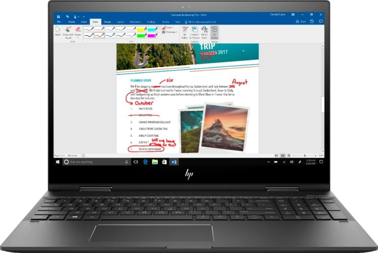 With Windows Ink check out the HP Envy x360 laptop