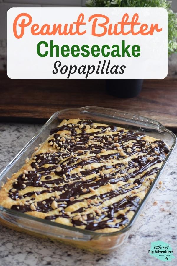 Peanut Butter Cheesecake Sopapillas dessert. Easy to make dessert. Great coffee dessert. Cheesecake desserts. #cheesecake #desserts #peanutbutter #easydesserts #coffeedesserts