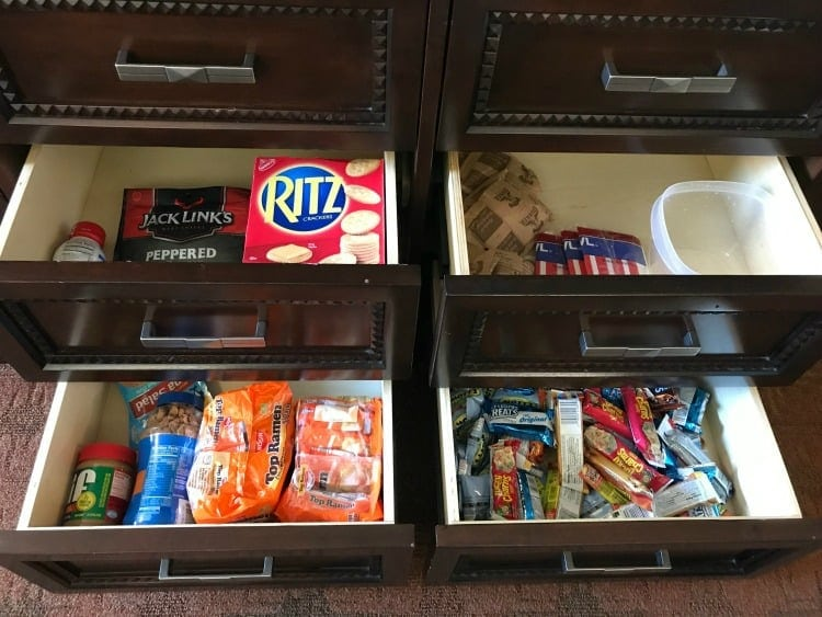 things to buy before you visit Disney World, plenty of snacks.
