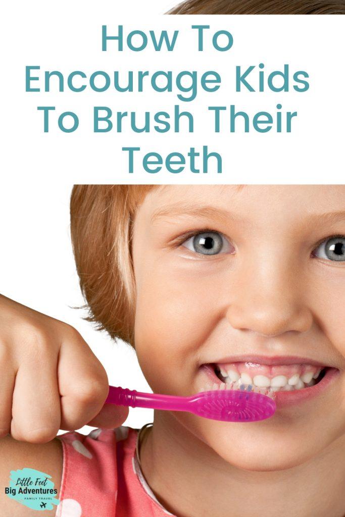 Teaching kids how to brush their teeth.